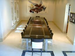 custom made dining room tables hand crafted black walnut and stainless steel dining table by