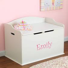 Nursery Decor Accessories Accessories Personalised White Storage Box Wood Baby Nursery