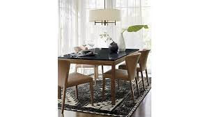 parsons black marble top elm base 60x36 dining table crate and