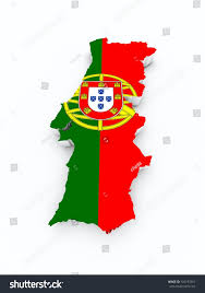 What Are The Colors Of The Portuguese Flag Portugal Flag On 3d Map Stockillustration 165197861 Shutterstock