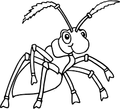 clip art ants coloring page breadedcat free printable coloring pages