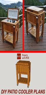 Patio Cooler Table How To Build A Patio Cooler Diy Patio Patios And Woodworking