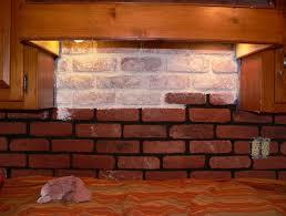 kitchen peel and stick brick backsplash white faux wood also