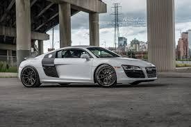Audi R8 White - white audi r8 looks stunning on brixton forged wheels gtspirit