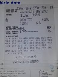 options sticker and engine codes where are they u0026 what do they