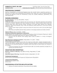 Resume Sle For A Nursing Student Resume For Rn Cover Letter Resume Nurses Sle