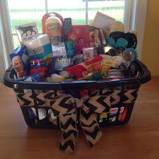 kitchen gadget gift ideas housewarming basket for some friends complete with cleaning stuff