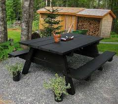 How To Build A Wooden Picnic Table by How To Decorate The Yard With A Picnic Table