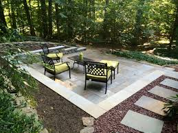 Building Stone Patio by Building A Stone Patio