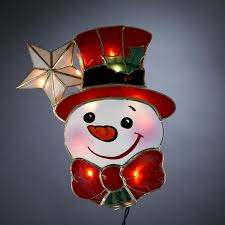 snowman tree kurt s adler 9 lighted capiz happy snowman with christmas