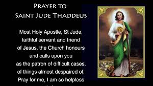 prayer to jude prayer to st jude