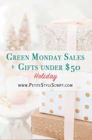 green monday sales gifts 50 style script