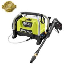 wall mount electric pressure washer ryobi 1 600 psi 1 2 gpm electric pressure washer ry141600 the