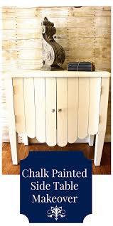 Chalk Paint Side Table Side Table Makeover With Chalk Paint 2 Bees In A Pod