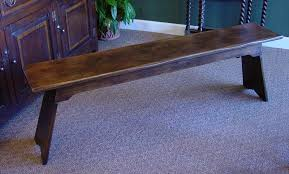 Rustic Oak Bench Rustic Oak Gun Barrel Leg Refectory Table