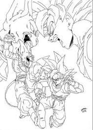 goku vegeta super saiyan dragon ball printable coloring