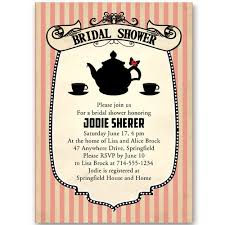 tea party bridal shower invitations classic printable bridal shower invitations tea party ewbs054 as