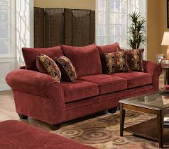 Red Sofa Slipcovers Chairs Entrancing Fabric Red Sofa Plus Amusing Cream Burgundy