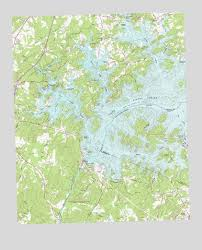 lake lanier map buford dam ga topographic map topoquest