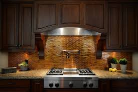 Copper Kitchen Backsplash Traditional Kitchen Ideas With Trendy Copper Tile Backsplash