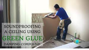 soundproofing a ceiling using green glue noiseproofing compound