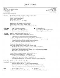 Resume Teacher Examples Elementary Teacher Resume Objective Learning Objectives Examples