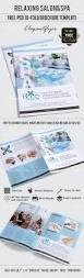 free relaxing salon u0026spa u2013 bi fold psd brochure template u2013 by