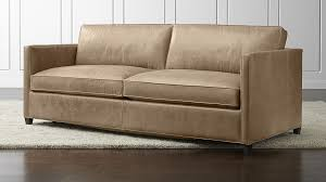 leather sofa dryden leather sofa crate and barrel