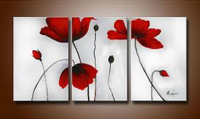Poppy Home Decor Wall Designs Wall Pictures Poppy Triptych Wall Home