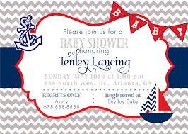Nautical Bridal Shower Invitations Baby Shower Invitation Cards Nautical Baby Shower Invitations