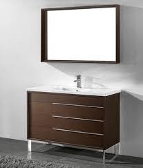 Inexpensive Bathroom Vanities by Milano 48 Inch Discount Modern Walnut Bathroom Vanities Http Www