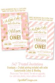 golden birthday invitation wording pink and gold 1st birthday invitations blush pink gold