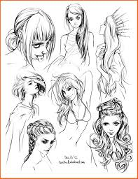 sketches of hair hair style sketches by tsvetka on deviantart