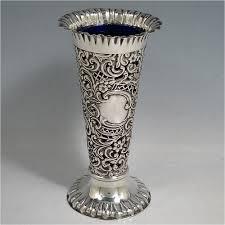 Silver Vase Vases In Antique Sterling Silver Bryan Douglas Antique Sterling