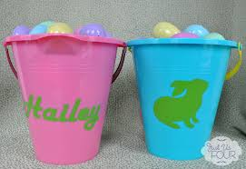 personalized easter buckets easy easter crafts customized easter buckets my suburban kitchen