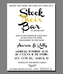 stock the bar shower stock the bar party invitations isura ink