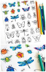 fun free printable bugs insects u0026 butterflies coloring