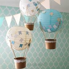 hot air balloon decorations whimsical hot air balloon decoration diy kit baby blue hot