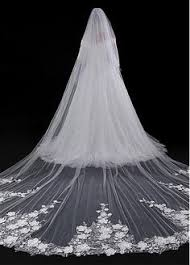wedding veils for sale ivory white bridal veil 2017 new arrived flowers 3m length