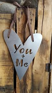 Metal Signs Home Decor by You Me Sign Heart Sign Metal Sign Farmhouse Decor Wedding