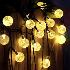 Globe Patio String Lights by Led Crystal Ball Solar String Lights J U0026y