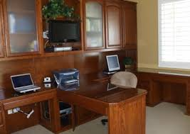 Computer Desk Built In Custom Home Office Cabinets And Built In Desks