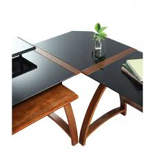 Office Desk Black by Glass Wooden Veneer Table Desk Connector Workstation