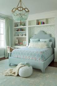 turquoise beaded chandelier blue and gray girl bedroom with turquoise beaded chandelier