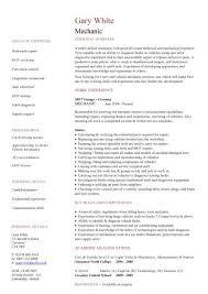 mechanics resume mechanic resume template hvac technician resume resume templates