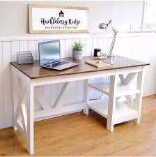 Diy Desk White Farmhouse X Desk Diy Projects