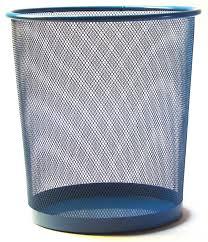 poubelle bureau corbeille à papier bleue poubelle de bureau kollori com