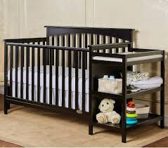 black crib with changing table baby crib changing table nursery furniture wood kids bed