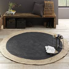 west elm rug bordered round jute rug slate west elm uk