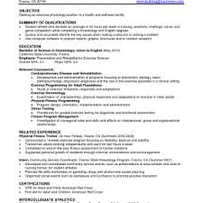 cover letter exercise science resume resume for exercise science